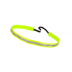 Trishabands Haarbandje Reflective Yellow 12mm