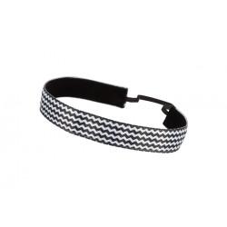 Trishabands Chevy Black White Big stripes 25mm