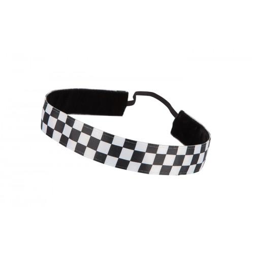 Trishabands Haarbandje Squares Black White 25mm