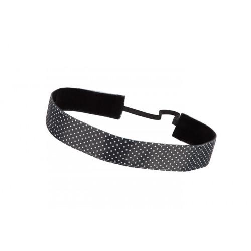 Trishabands Haarbandje Polka Dot Black White Small 25mm