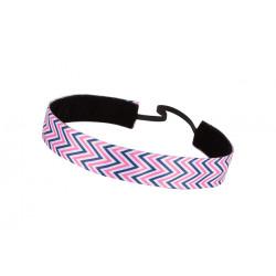 Trishabands Haarbandje Chevy Black White Pink 25mm