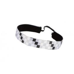 Trishabands Squares  Black White Grey 25mm