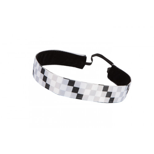 Trishabands Haarbandje Squares  Black White Grey 25mm