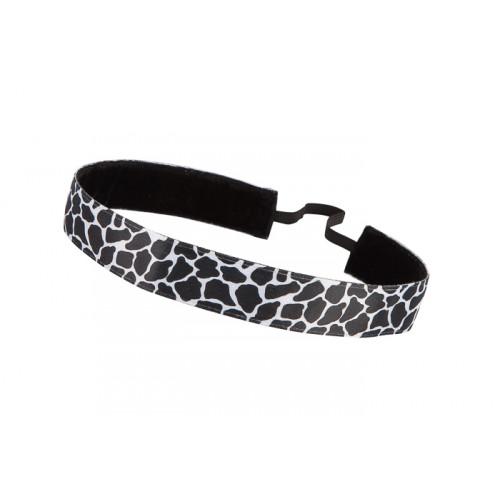Trishabands Haarbandje Leopard Black White 25mm