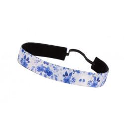 Trishabands Haarbandje Delfts Blauw 25mm