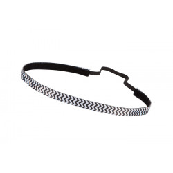 Trishabands Headband Chevron Black White 10mm